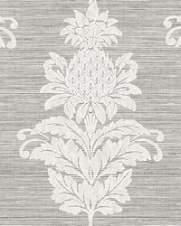Pineapple Grove Gold Damask Wallpaper by