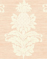 Pineapple Grove Pink Damask Wallpaper by