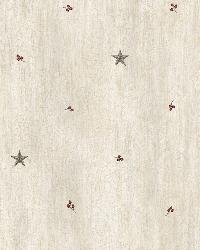 Ross Grey Star Sprig Toss Wallpaper by  Brewster Wallcovering