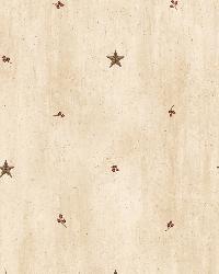 Ross Sand Star Sprig Toss Wallpaper by  Brewster Wallcovering