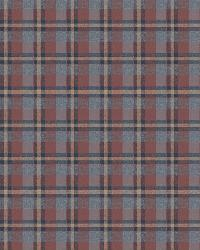 Sonny Blue Heritage Tartan Wallpaper by  Brewster Wallcovering