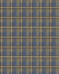 Sonny Green Heritage Tartan Wallpaper by  Brewster Wallcovering
