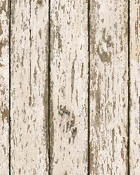 Genley White Faux Weathered Wood Wallpaper by  Brewster Wallcovering