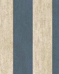 Etty Blue Awning Stripe Wallpaper by  Brewster Wallcovering