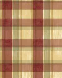 Sunday Red Tartan Wallpaper by  Brewster Wallcovering