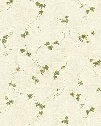 Sarah Grey Ivy Trail Wallpaper by  Brewster Wallcovering