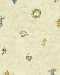 Essie Grey Wreath Spot Toss Wallpaper by  Brewster Wallcovering