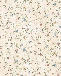 Calico Blue Busy Floral Toss Wallpaper by  Brewster Wallcovering