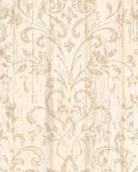 Reba Rose Country Faux Wood Wallpaper by  Brewster Wallcovering