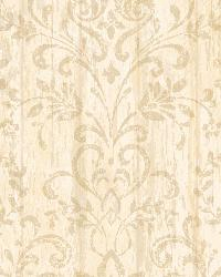 Reba Peach Country Faux Wood Wallpaper by  Brewster Wallcovering