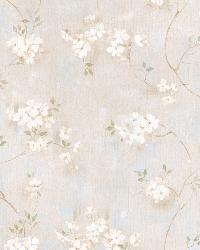 Braham Grey Country Floral Scroll Wallpaper by  Brewster Wallcovering