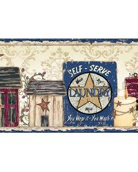 Gidget Blue Country Fun Portrait Border by  Brewster Wallcovering