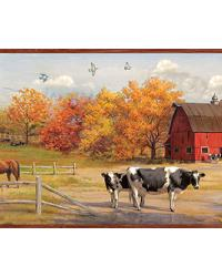 Jethro Red American Farmer Portrait Border by  Brewster Wallcovering
