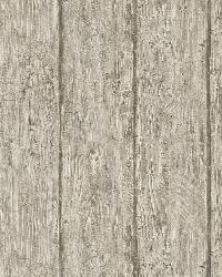 Outerbanks Grey Faux Wood Wallpaper by  Brewster Wallcovering