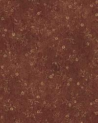 Raina Red Busy Country Vine Wallpaper by  Brewster Wallcovering