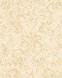 Phillip Cream Country Damask Wallpaper by  Brewster Wallcovering