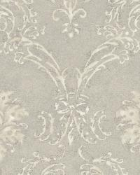 Cream Devon Damask by  Brewster Wallcovering