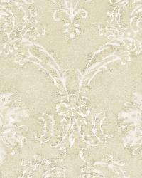 Beige Devon Damask by  Brewster Wallcovering
