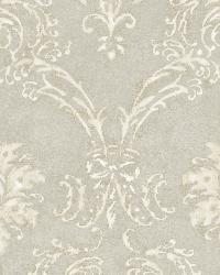Grey Devon Damask by  Brewster Wallcovering