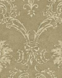 Gold Devon Damask by  Brewster Wallcovering