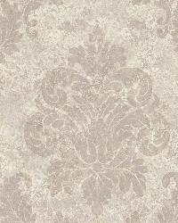 Red Dreamy Damask by  Brewster Wallcovering