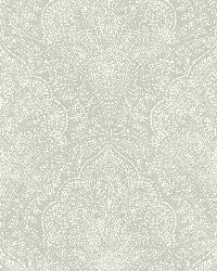 Celeste Blue Paisley Damask by
