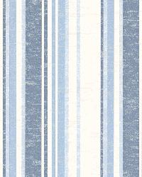 Belfast Ocean Galop Stripe by  Brewster Wallcovering
