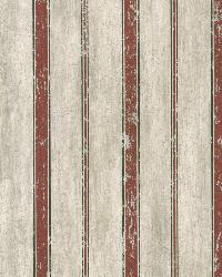 Saco Brick Parker Stripe by  Brewster Wallcovering