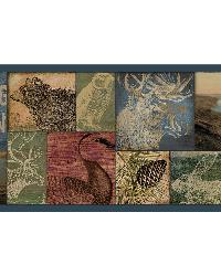 Trumball Teal Wild Game Border by