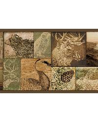 Trumball Brown Wild Game Border by