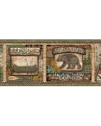Tugalo Green Bear Paw Lodge Border by