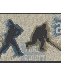 Glavine Grey Sports Figures Toss Border by