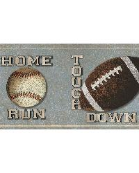 Slam Dunk Light Blue Sports Toss Border by