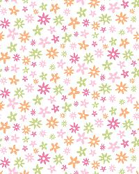 Delilah Pink Mod Flower Toss Wallpaper by