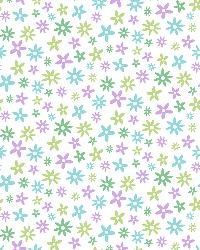 Delilah Purple Mod Flower Toss Wallpaper by