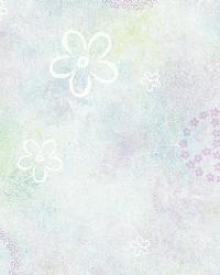 Joplin Purple Peace Flowers Toss Wallpaper by