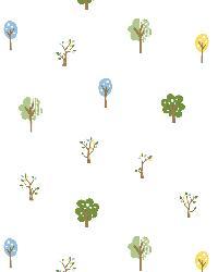 Perennial Blue Arbor Toss Wallpaper by