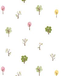 Perennial Pink Arbor Toss Wallpaper by