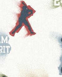 Glavine Cream Sports Figures Toss Wallpaper by