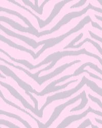Mia Pink Faux Zebra Stripes Wallpaper by