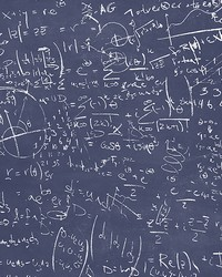 Chalkboard Navy Equation Wallpaper by
