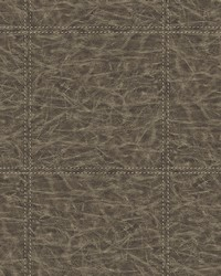 Study Check Brown Leather Wallpaper by
