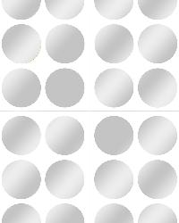 Silver Confetti Dot Decals by