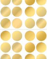 Gold Confetti Dot Decals by