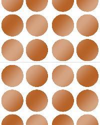Copper Confetti Dot Decals by