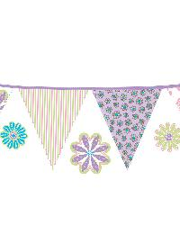 Patchwork Daisy Stripes Decal by