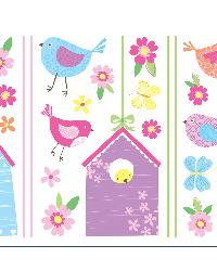 Bird Houses Wall Stickers by  Brewster Wallcovering