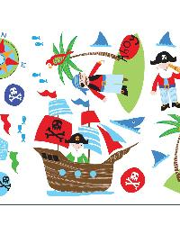 Pirates Wall Stickers by  Brewster Wallcovering