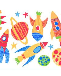 Blast Off Wall Stickers by  Brewster Wallcovering