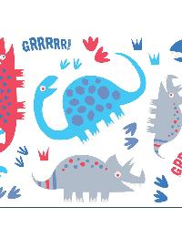 Dino Blue Wall Stickers by  Brewster Wallcovering